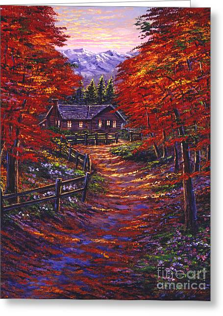Wooden Fence Greeting Cards - 1133 Friendly House Greeting Card by David Lloyd Glover