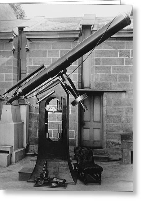Bayliss Greeting Cards - 11.5-inch telescope, Sydney Observatory Greeting Card by Science Photo Library
