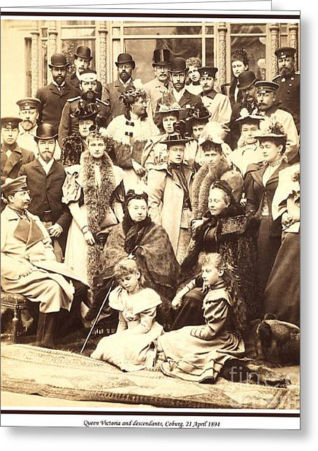 Alexandrovich Greeting Cards - 118. Queen Victoria and descendants Coburg 21 April 1894 Print Greeting Card by Royal Portraits