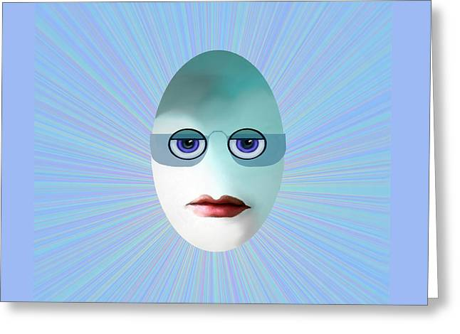 Eggheads Greeting Cards - 1183 - Egghead Little   Nerd   Greeting Card by Irmgard Schoendorf Welch