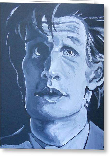 Eleventh Doctor Greeting Cards - 11th Doctor Greeting Card by Lisa Leeman