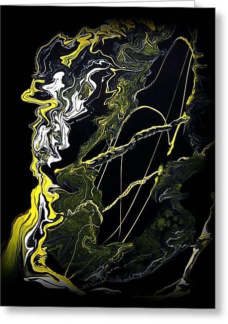 Best Sellers -  - Abstract Digital Paintings Greeting Cards - Abstract 21 Greeting Card by J D Owen