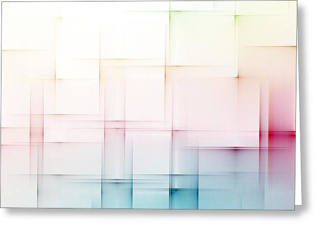 Geometric Effect Greeting Cards - Abstract Background Greeting Card by Dan Radi