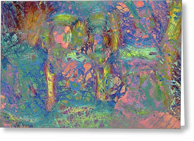 Abstract Polarised Light Micrograph Greeting Card by Steve Lowry