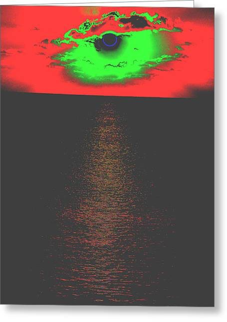 Generative Abstract Photographs Greeting Cards - Seascapes Greeting Card by Dave Byrne