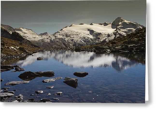Peaceful Scene Greeting Cards - Alpine lake Greeting Card by Lorenzo Tonello