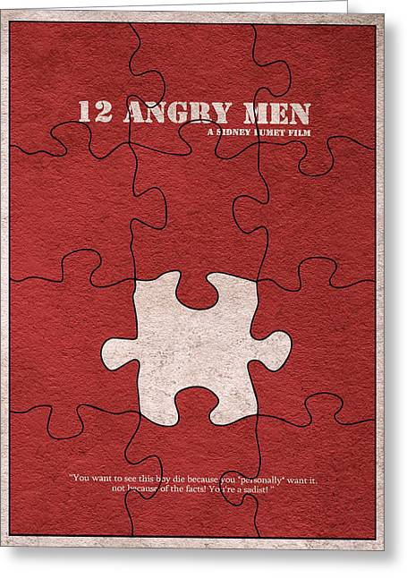 Henry Mixed Media Greeting Cards - 12 Angry Men Greeting Card by Ayse Deniz