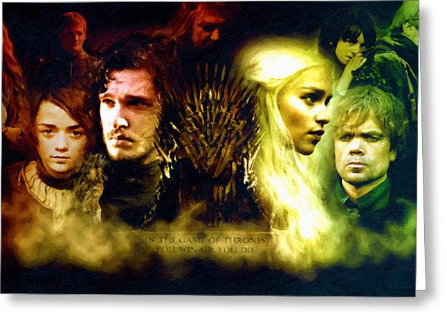 Hardcover Greeting Cards - Art RR Martin Game Of Thrones Greeting Card by Victor Gladkiy
