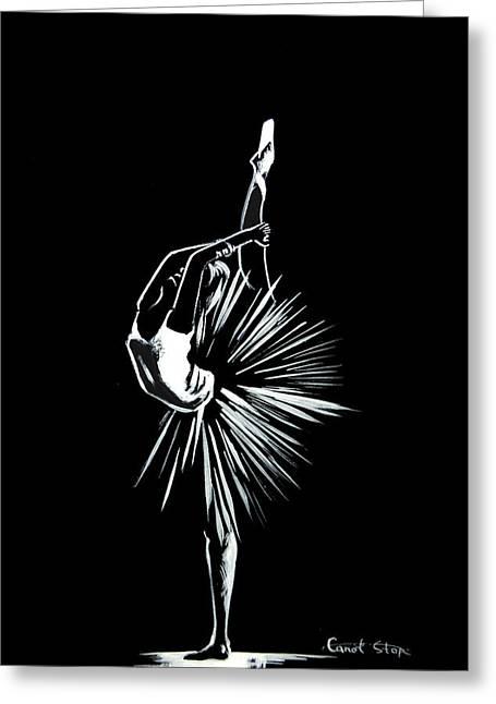 Best Sellers -  - Ballet Dancers Drawings Greeting Cards - Ballerina Greeting Card by Sophia Rodionov
