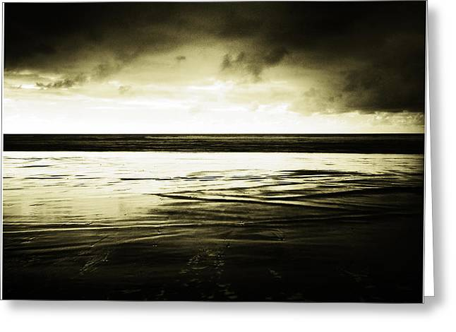 Summer Storm Greeting Cards - Beach Greeting Card by Les Cunliffe