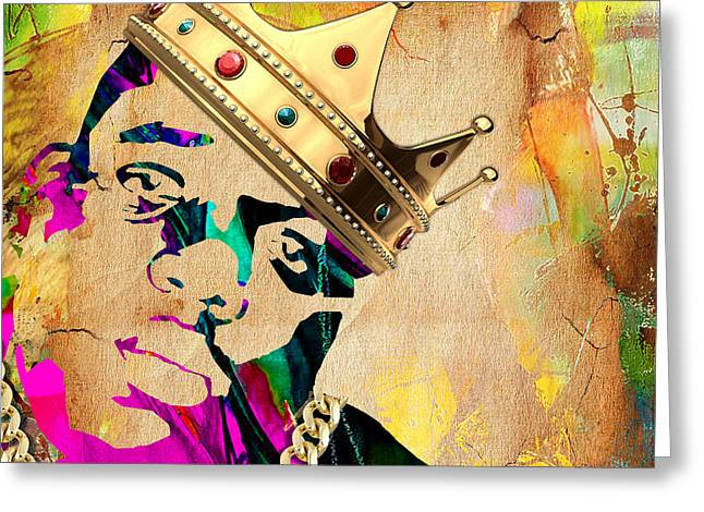 Big Poppa Mixed Media Greeting Cards - Biggie Collection Greeting Card by Marvin Blaine