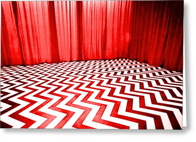 Donna Hayward Greeting Cards - Black Lodge Greeting Card by Luis Ludzska