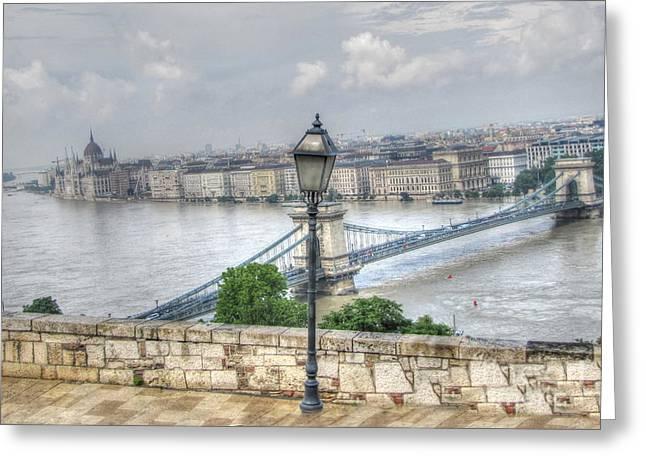 People Pyrography Greeting Cards - Budapesht    Hungary  Greeting Card by Yury Bashkin