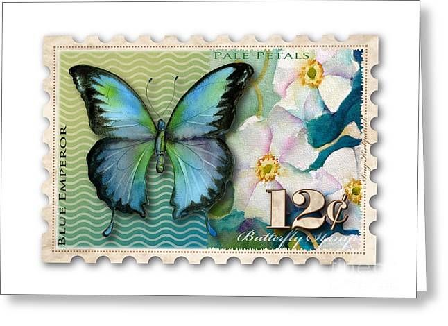 Butterflies Paintings Greeting Cards - 12 Cent Butterfly Stamp Greeting Card by Amy Kirkpatrick