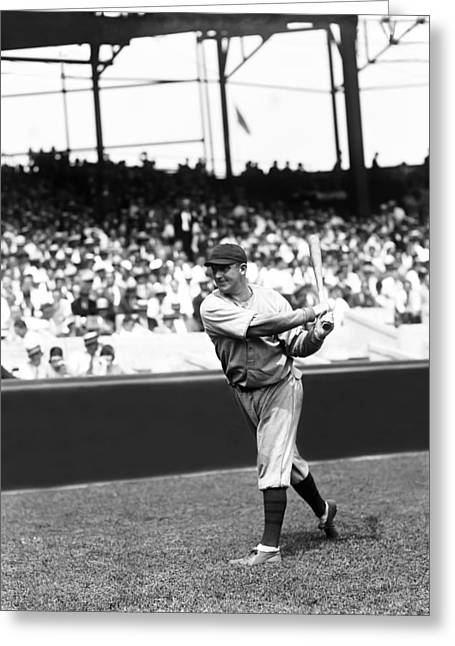 Baseball Uniform Greeting Cards - Charles L. Gabby Hartnett Greeting Card by Retro Images Archive