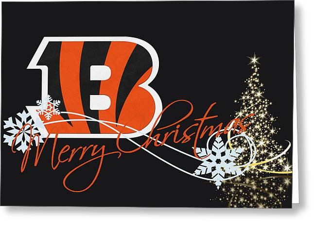 Christmas Greeting Photographs Greeting Cards - Cincinnati Bengals Greeting Card by Joe Hamilton
