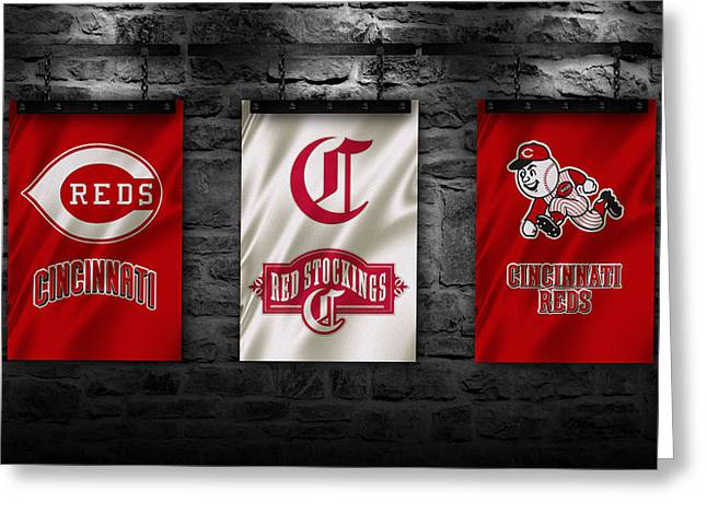 Baseball Uniform Greeting Cards - Cincinnati Reds Greeting Card by Joe Hamilton
