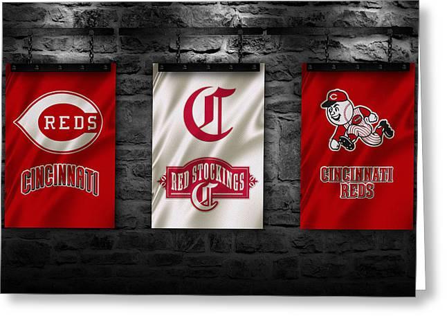 Cincinnati Reds Greeting Cards - Cincinnati Reds Greeting Card by Joe Hamilton