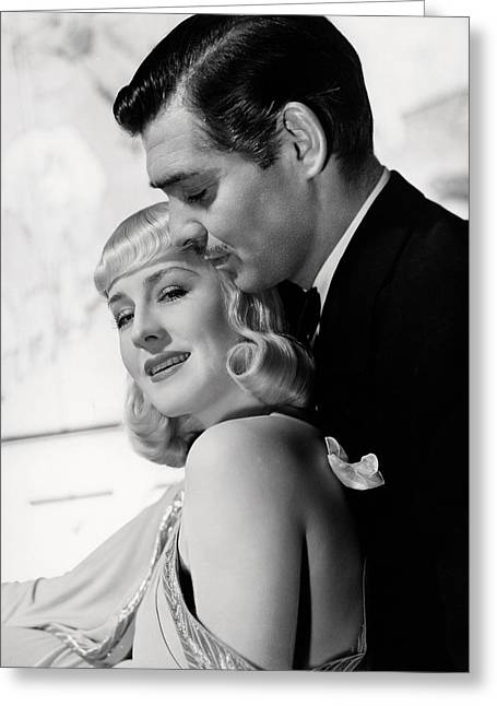 Gable Greeting Cards - Clark Gable Greeting Card by Silver Screen