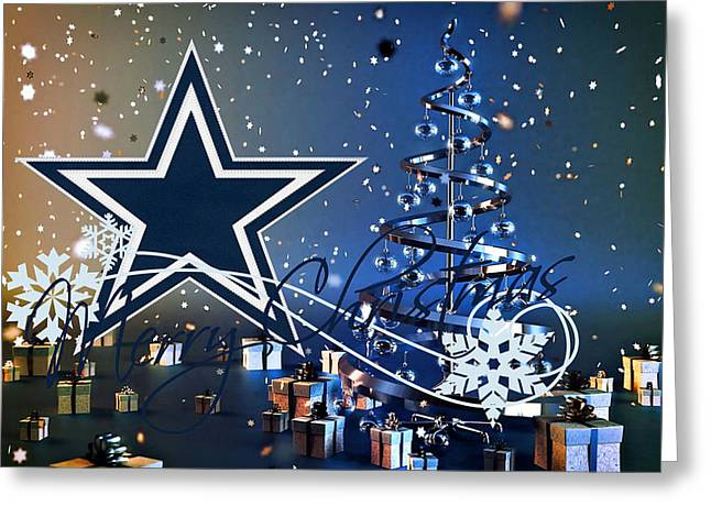 Present Greeting Cards - Dallas Cowboys Greeting Card by Joe Hamilton