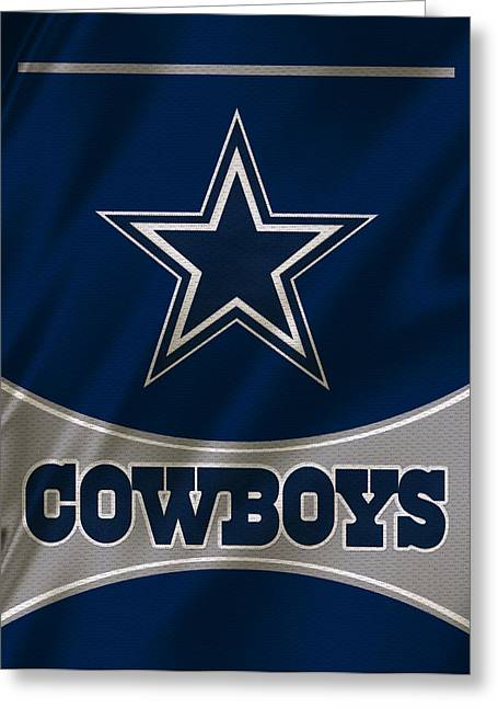 Uniformed Greeting Cards - Dallas Cowboys Uniform Greeting Card by Joe Hamilton