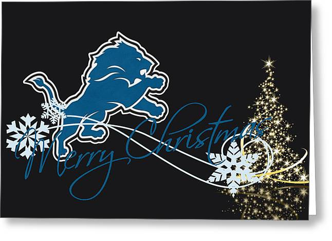 Player Greeting Cards - Detroit Lions Greeting Card by Joe Hamilton
