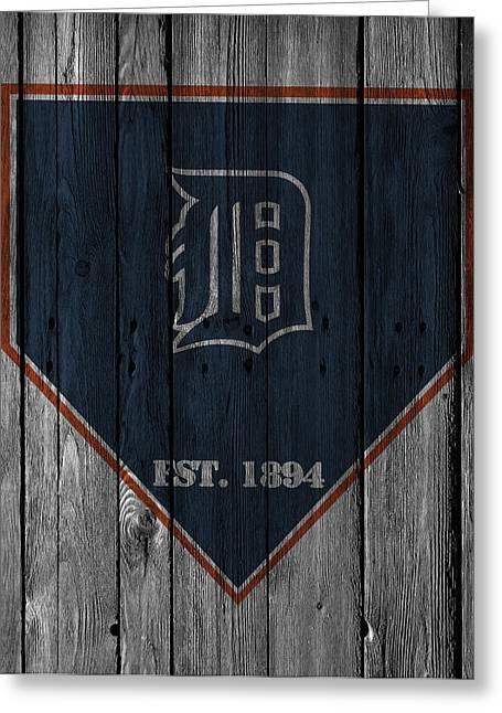 Tiger Stadium Greeting Cards - Detroit Tigers Greeting Card by Joe Hamilton