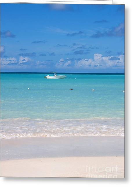 Dickenson Greeting Cards - Dickenson Bay Antigua Greeting Card by Manuela Schueler