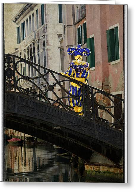 Elaborate Costume For Carnival Venice Greeting Card by Darrell Gulin