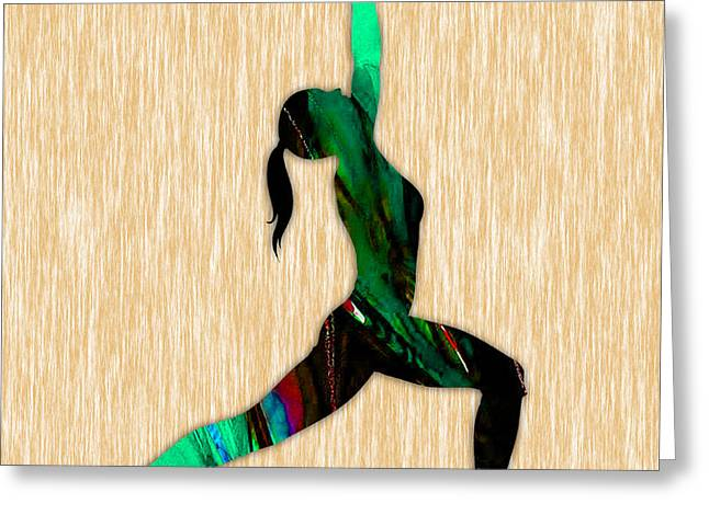 Fitness Greeting Cards - Fitness Yoga Greeting Card by Marvin Blaine
