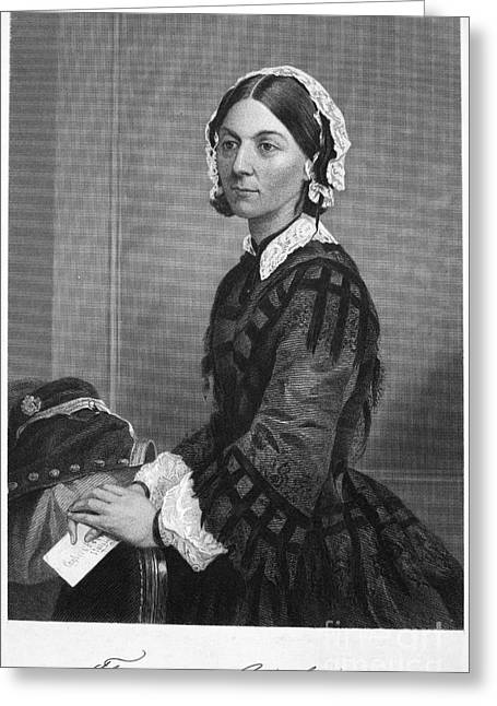 Autograph Greeting Cards - Florence Nightingale Greeting Card by Granger
