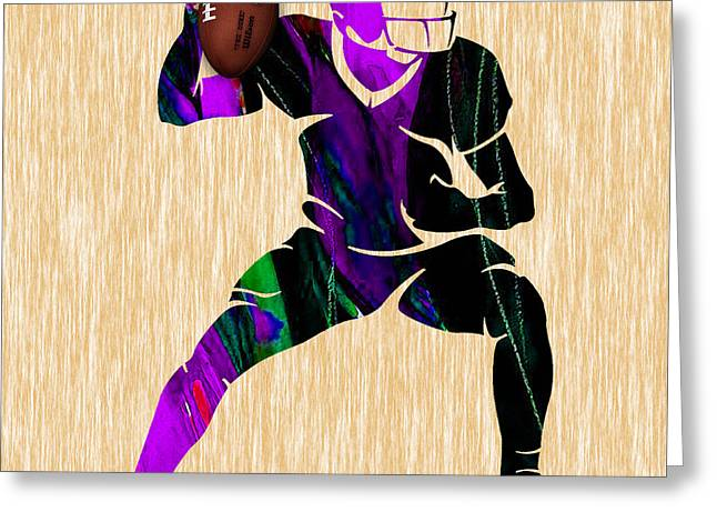 Pig Greeting Cards - Football Greeting Card by Marvin Blaine