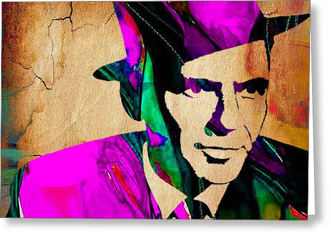 Frank Sinatra Greeting Cards - Frank Sinatra Greeting Card by Marvin Blaine
