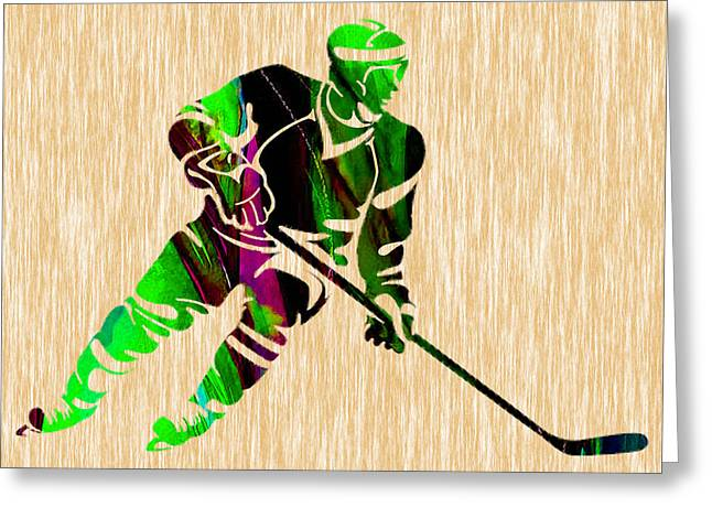 Hockey Greeting Card by Marvin Blaine