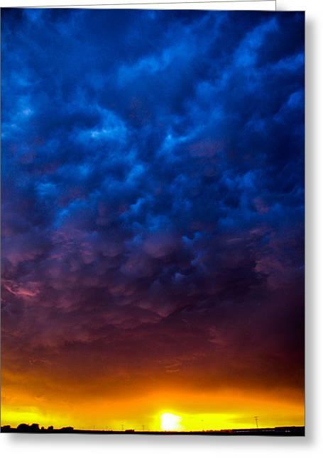 Weather Report Greeting Cards - Incredible Nebraska Thunderset Greeting Card by Dale Kaminski