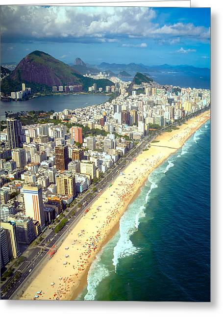 Surf City Greeting Cards - Ipanema beach Greeting Card by Celso Diniz