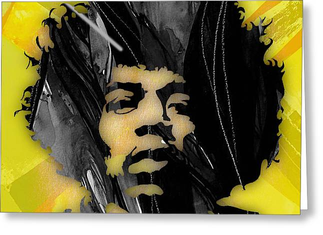 Jimi Hendrix Greeting Cards - Jimi Hendrix Collection Greeting Card by Marvin Blaine