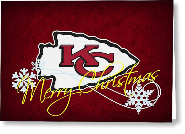 Goals Greeting Cards - Kansas City Chiefs Greeting Card by Joe Hamilton