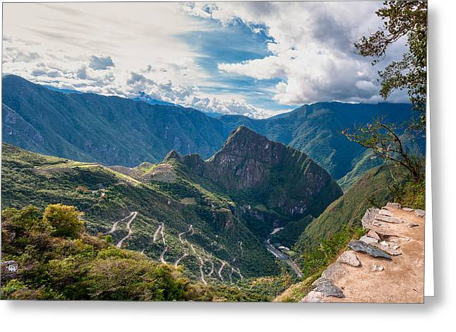 Lost Civilization Greeting Cards - Machu Picchu Greeting Card by Ulrich Schade