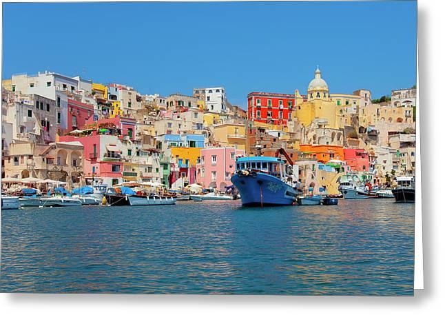 Marina Corricella, Procida Island, Bay Greeting Card by Panoramic Images