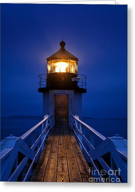 Coastal Maine Greeting Cards - Marshall Point Lighthouse  Greeting Card by John Greim