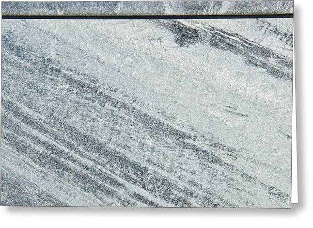 Metallic Sheets Greeting Cards - Metal background Greeting Card by Tom Gowanlock