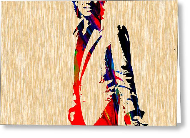 Jagger Greeting Cards - Mick Jagger Greeting Card by Marvin Blaine