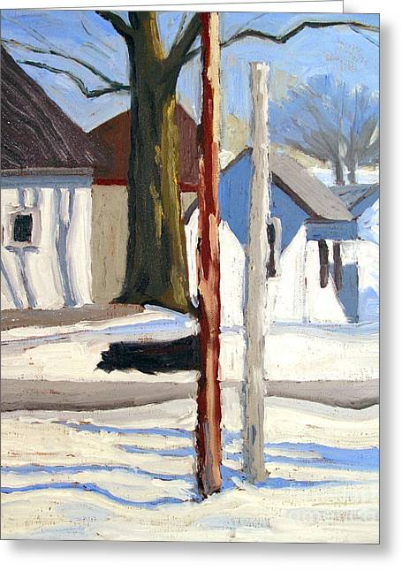Early Spring Paintings Greeting Cards - 12 Mile Melt Down Greeting Card by Charlie Spear