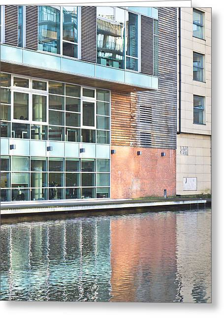 Office Space Greeting Cards - Modern building Greeting Card by Tom Gowanlock