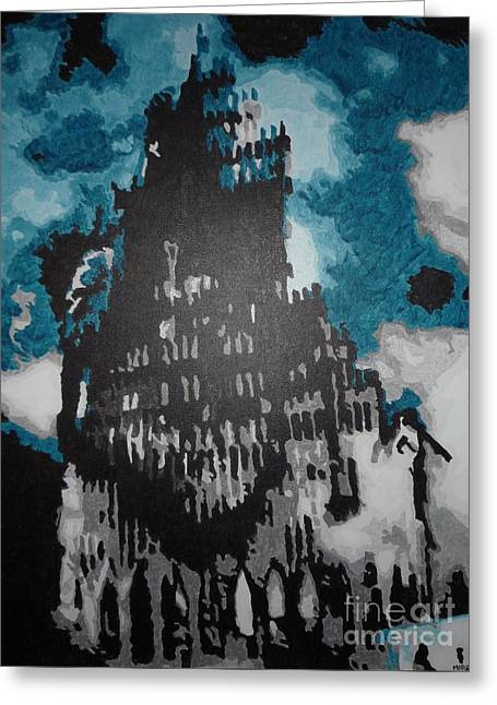 Wtc 11 Paintings Greeting Cards - 12 Greeting Card by Morgan  Veissiere