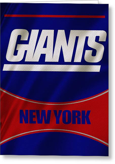 Giant Greeting Cards - New York Giants Uniform Greeting Card by Joe Hamilton