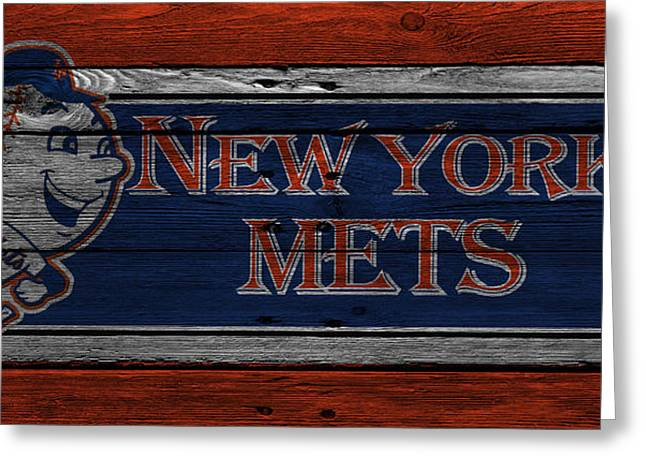 New York Mets Greeting Card by Joe Hamilton