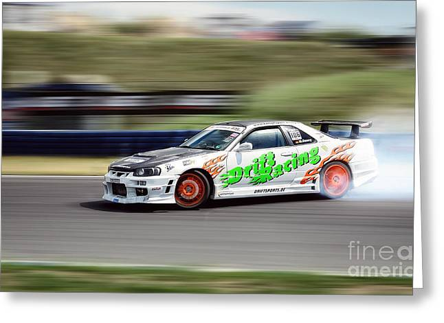 Recently Sold -  - Deutschland Greeting Cards - Nissan Drift Greeting Card by Martin Slotta