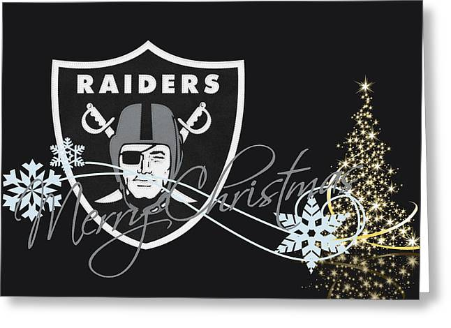 Oakland Raiders Greeting Card by Joe Hamilton
